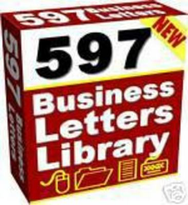Product picture 597 Ready To Use Business Letters Library + Resell Right